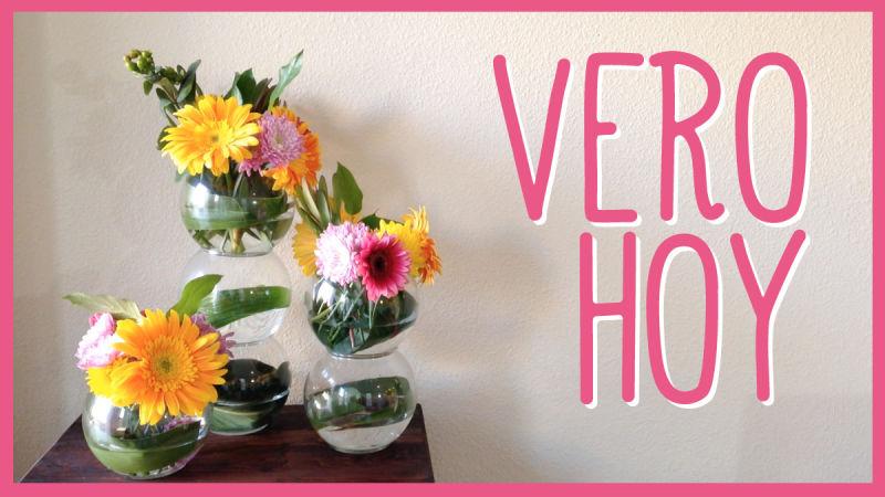 Centro de mesa con flores frescas facil vero hoy for Centros de mesa faciles de hacer