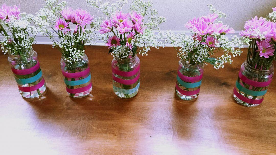 Diy florero idea para reutilizar los frascos de vidrio vero hoy - Fabrica de floreros de vidrio ...