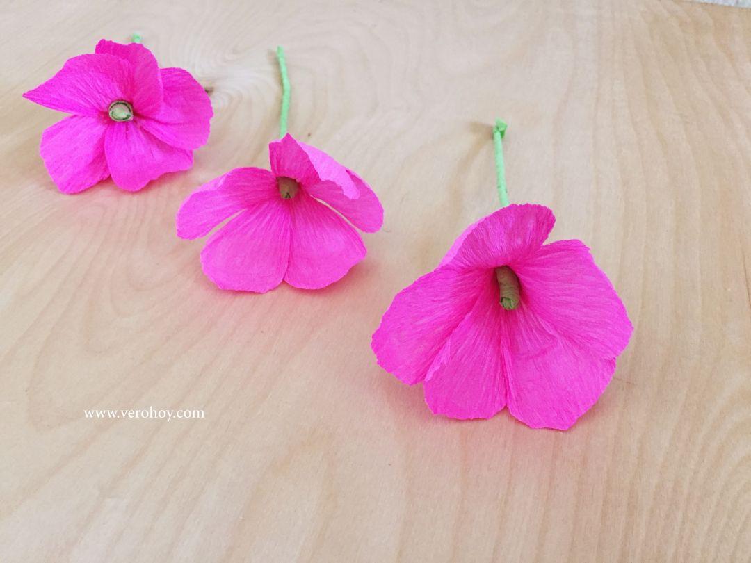 Como Hacer Flores con Papel Crep Fcil y Rpido Vero Hoy